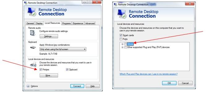 Use a local printer in a remote desktop session