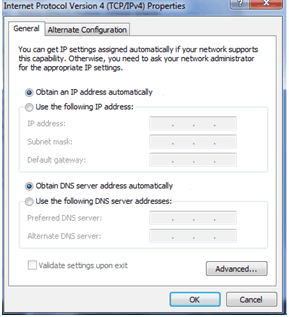 How to configure a static internal IP address on a Windows