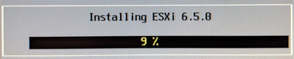 Installing ESXi